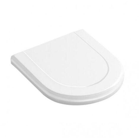 Siège de WC Villeroy und Boch Hommage 8809S1, blanc, charnières en acier inoxydable, Coloris: Blanc étoile - 8809S1R2