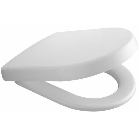 Siège de WC Villeroy und Boch SUBWAY, blanc Charnières à dégagement rapide en acier inoxydable - 9M55Q101