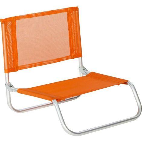 Siege plage en aluminium Basic Orange - Orange