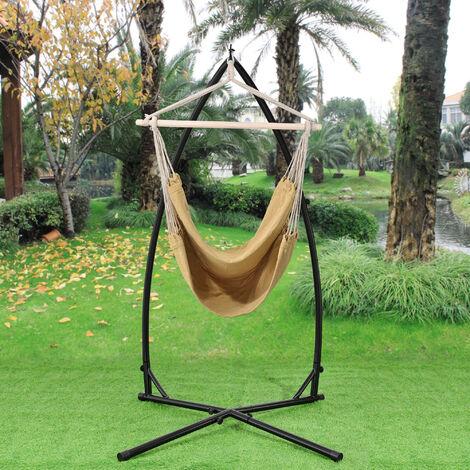 siège suspendu XXL avec cadre (multicolore) siège suspendu balanoire suspendue hamac
