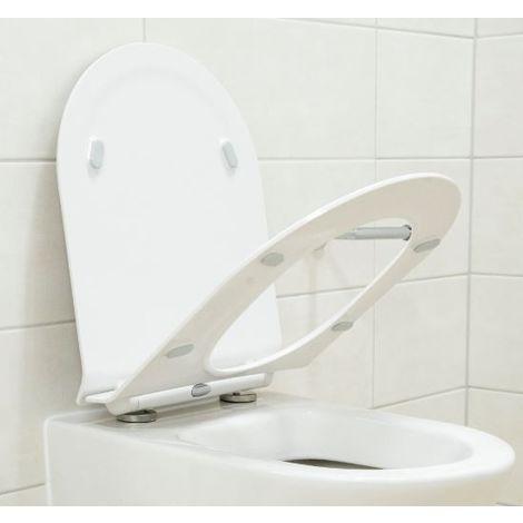 Siège wc de remplacement plat, pour nos wc suspendus CH1088, 1088R, B8030, NT2039, CT1099, CT1088 et NT2019
