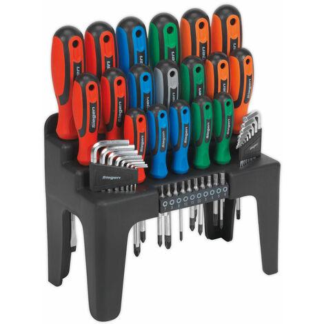 Siegen S01090 Screwdriver, Hex Key & Bit Set 44pc