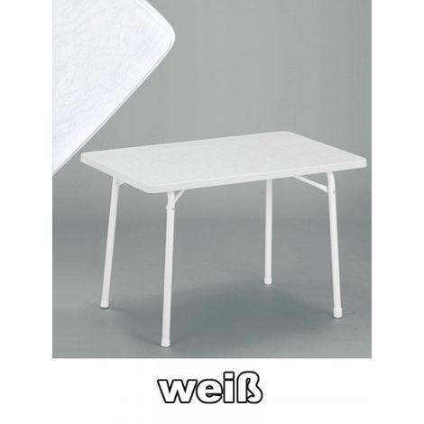 Terrassentisch Klappbar.Sieger Gartentisch Klappbar 115 X 70 Cm Weiß Stahl