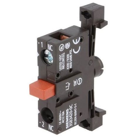 Siemens 3SB34200C - Contact block - 1NC - 1 Pole - to screw