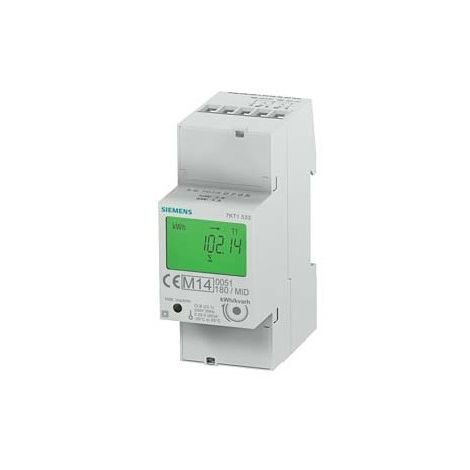 Siemens 7KT1533 energy counter 230VAC 50Hz 2S0 (x2) Tarif