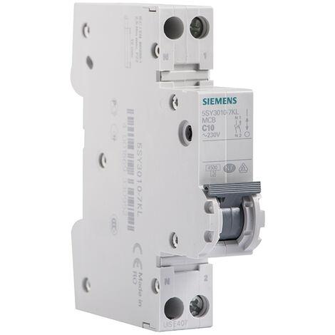SIEMENS - Disjoncteur électrique phase + neutre 10A