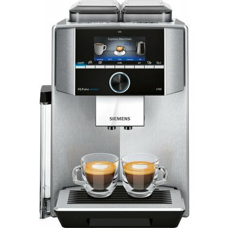 Siemens EQ.9 TI9575X1DE - Machine à expresso - 2,3 L - Café en grains - Broyeur intégré - 1500 W - Acier inoxydable (TI9575X1DE)