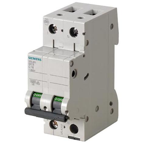SIEMENS Ingenuity for life - 5SL6510-7 Interruptor automático 230V 6KA 1P + N, C, 10A