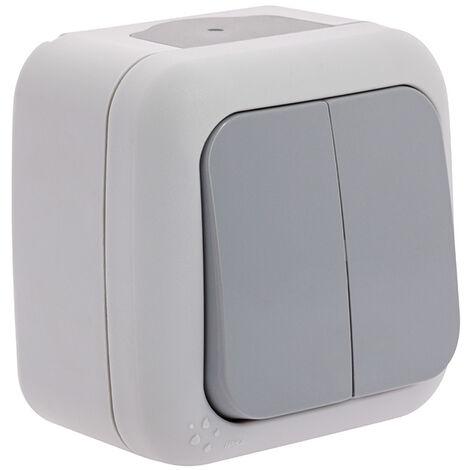 SIEMENS Ingenuity for life - Interruptor Conmutador Doble Estanco Gris
