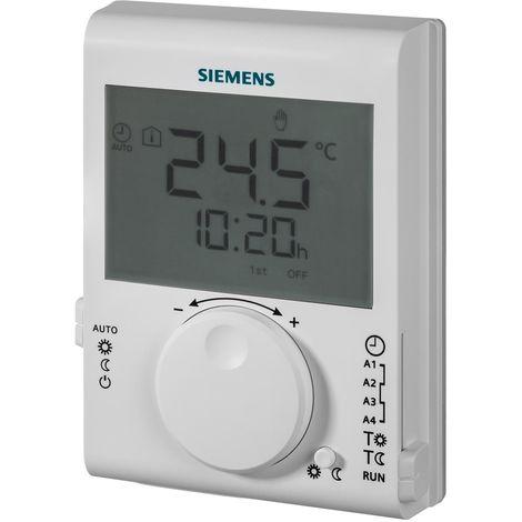 SIEMENS Ingenuity for life - Termostato de ambiente con interruptor de tiempo de 24 horas y pantalla LCD grande RDJ100