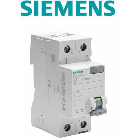 Siemens - Interrupteur différentiel 30 mA 40 A Type AC