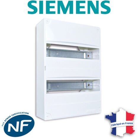 SIEMENS - Tableau électrique nu à équiper 2 rangées