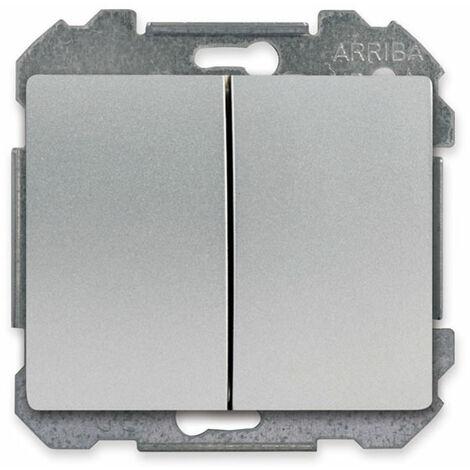 Va et Vient + Poussoir Alu Silver Delta IRIS - SIEMENS