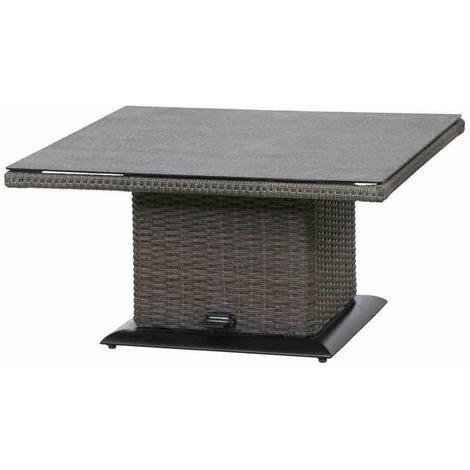 Klapptisch küche grau  Siena Garden Gartentisch Lift Tisch Porto Polyrattan grau 90x90cm