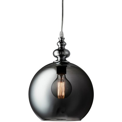 Sienna Smoked Globe Pendant