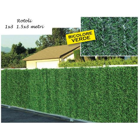 Edera Plastica Per Recinzioni.Siepe Artificiale 1x3 1 5x3 Finta Rotolo Pvc Arella Sintetica Recinzione Confine