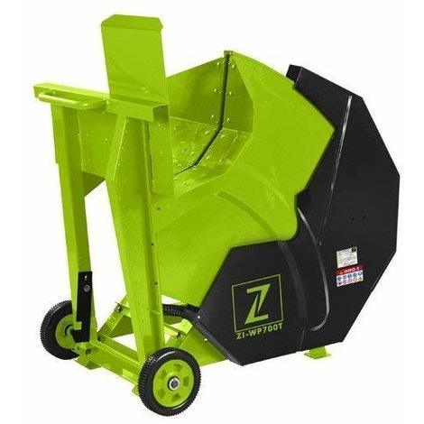 Sierra circular de troncos Zipper ZI-WP700T 380V trifasico 4500W cortador madera