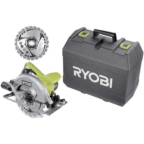 Sierra circular RYOBI 1400W 66mm - 2 hojas 20 dientes - 1 caja RCS1400-K2B