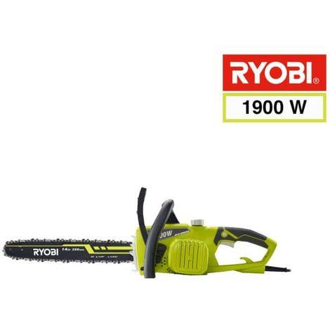 Sierra de cadena eléctrica RYOBI 1900W 35cm RCS1935B2C - 2 cadenas 35 cm RAC248