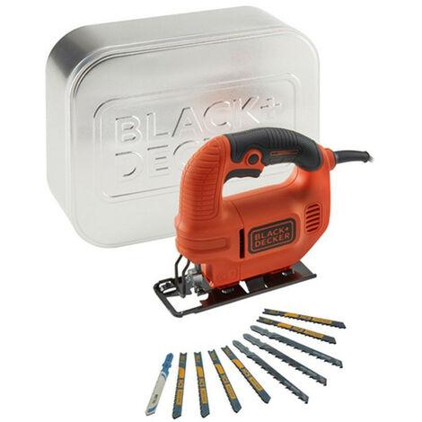 Sierra de calar Black & Decker KS501AT - caladora 400 W + caja de lata + hojas de calar