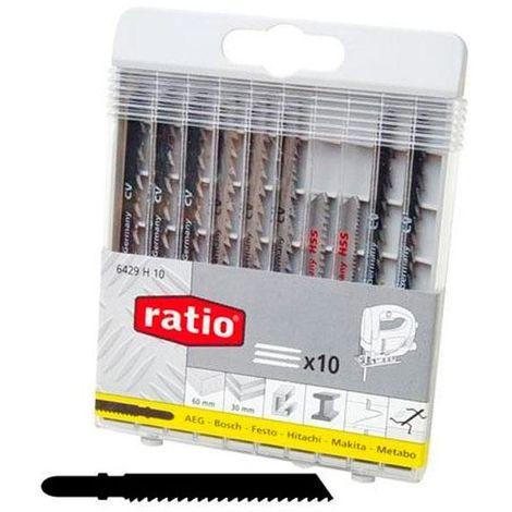 Sierra de calar madera/acero 10 unidades surtidas ratio - varias tallas disponibles