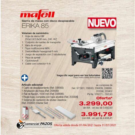 Sierra de mesa con disco desplazable ERIKA 85 Mafell - Promoción 1P0271
