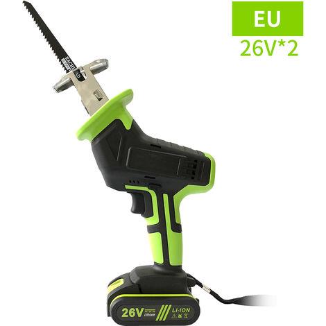 Sierra electrica 26V, Saw Motor electrico, 7500mAh bateria de litio recargable