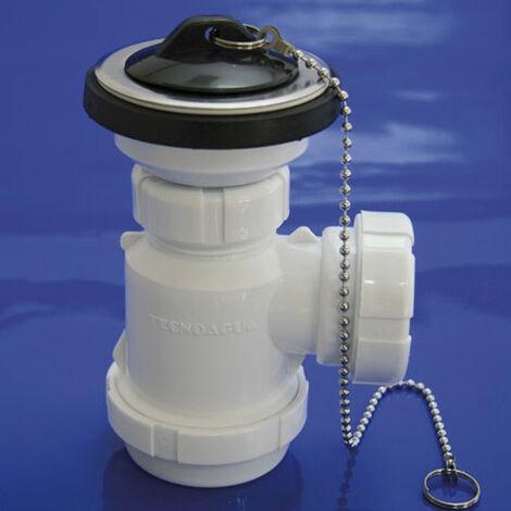 Sifon Botella Extensible T-3-M 1 1/2 Mini con Valvula y tapón