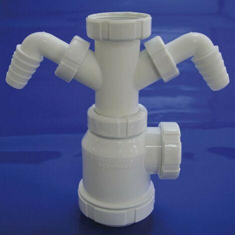 Sifon botella extensible t-4-td 1 1/2 2 tomas lavadora