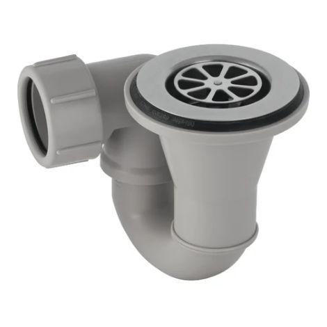 Sifón de ducha Ø 62 con desagüe | Cromado