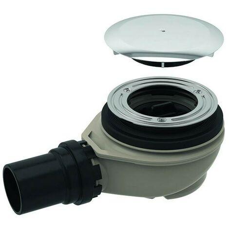 Sifón de ducha d90 con tapa para altura de desagüe 50 mm Desagüe de PE Geberit 150.552.21.1 | Blanco