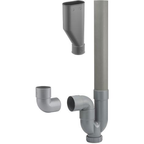 Sifón de una salida horizontal / vertical + embudo