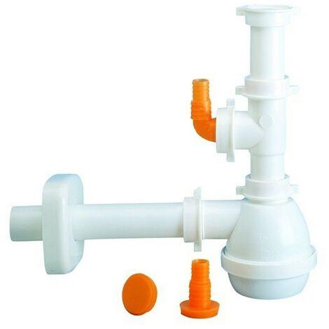 Sifone 1 via senza piletta per lavello con attacco lavastoviglie lira