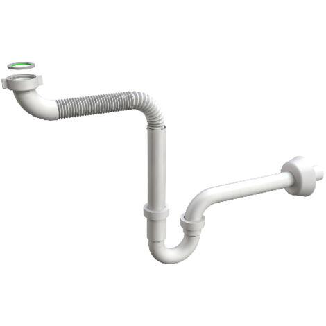 Sifone con braccio flessibile per lavabi reclinabili ideale per disabili