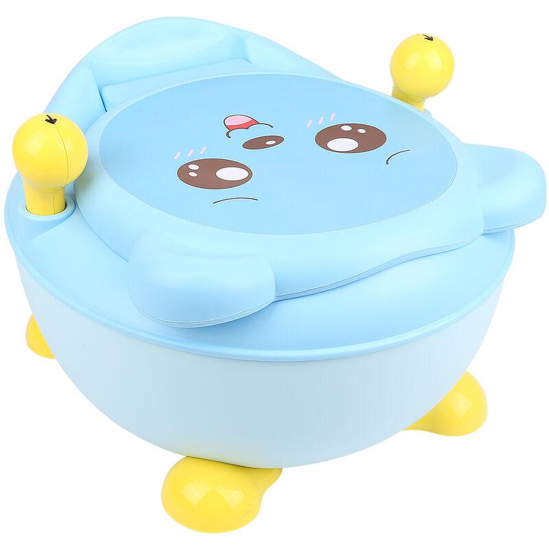 SiFree®Bébé Toilette Pliant,Toilette Portative en Plastique Toilettes pour enfants 33*34*44cm BLEU,Modèle d'ours Toby