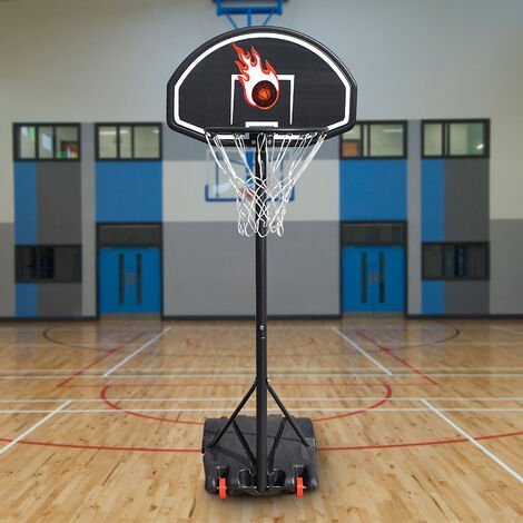 """main image of """"SiFree®Panier de basket sur pied Réglable en hauteur -73*53*246cm -NOIR"""""""