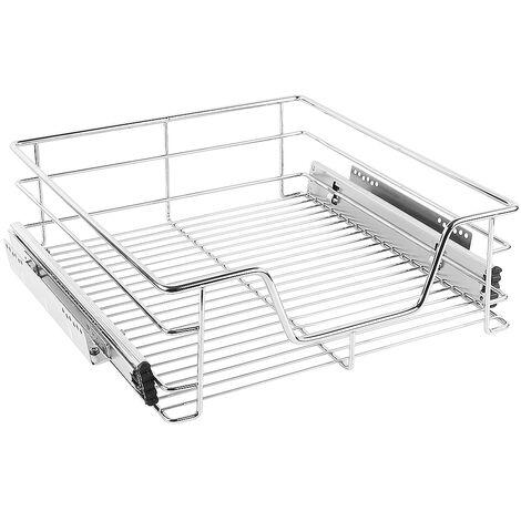 SiFree®Paniers Coulissants pour Placard ou Cabinet de Cuisine de 50cm. Tiroirs coulissants à système de fermeture amortie