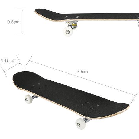 SiFree®Skateboard Deck complet Planche À roulettes Capacité MAX 100KG -Crâne Motif