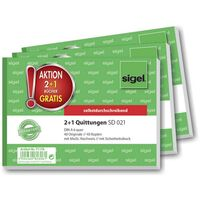 Sigel T1178 DIN A6 paysage ATT.INT.NUMBER_SHEETS: 40 3 pièces/pack 1 paquet(s)