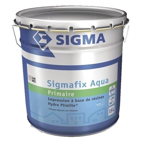 SIGMAFIX AQUA 15L - Impression extérieure opacifiante pour façade - SIGMA - blanc
