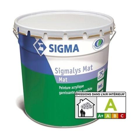 SIGMALYS MAT+ BLANC FUTURA 1 L - Peinture garnissante mate pochée - SIGMA
