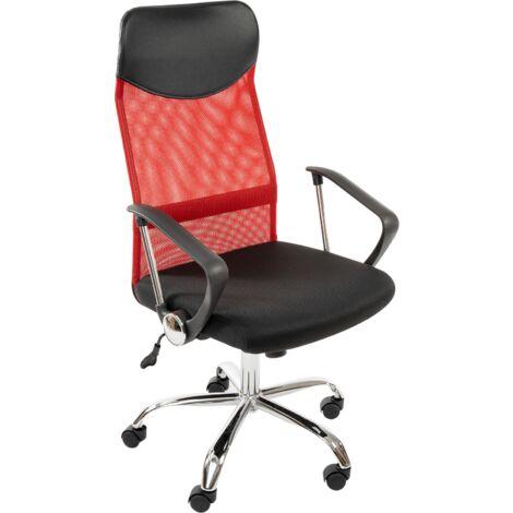 SIGNAL Drehsessel, Computerstuhl, Chefsessel, Bürostuhl, Schreibtischstuhl, Rückenlehne, Armlehnen, höhenverstellbar:rot