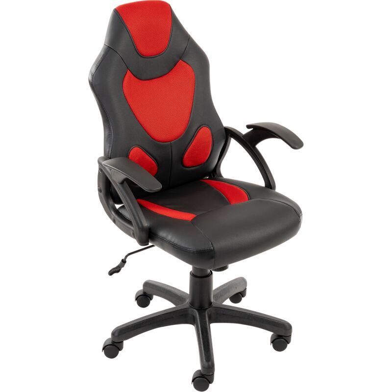 Novodom - SIGNAL Gamerstuhl, Schreibtischstuhl, Computerstuhl, Chefsessel, Bürostuhl, Drehsessel, Armlehnen, höhenverstellbar:rot/schwarz