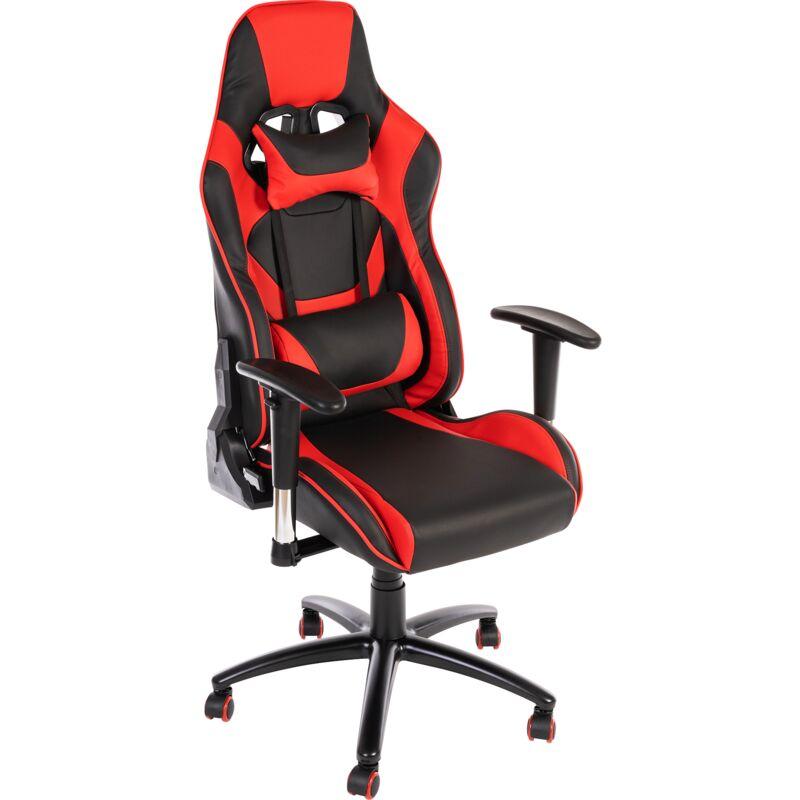 Novodom - SIGNAL SUPRA Gamingstuhl, Drehsessel, Computerstuhl, Chefsessel, Bürostuhl, Schreibtischstuhl, Armlehnen, höhenverstellbar:rot/schwarz