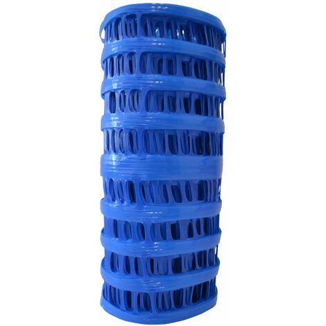 Signalisation chantier 0,3 x 25 m Grillage avertisseur bleu conduites d'eau - le rouleau de
