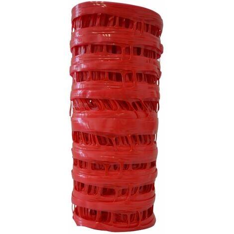Signalisation chantier 0,3 x 25 m Grillage avertisseur rouge électricité - le rouleau de