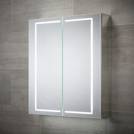 Signature 2-Door Mirrored Bathroom Cabinet 700mm H x 600mm W