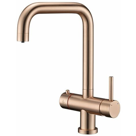 Signature 3 in 1 Hot Kitchen Sink Mixer Tap - Copper