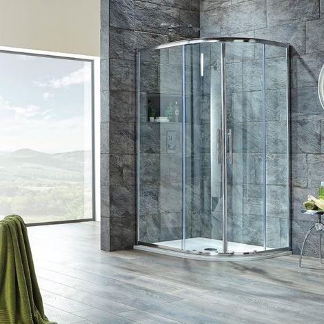 Signature 8mm Double Door Offset Quadrant Shower Enclosure 1200mm x 800mm