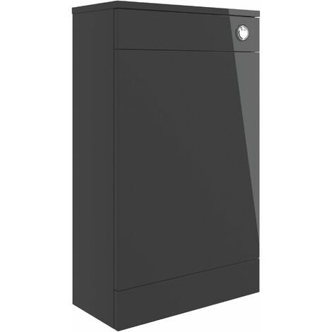 Signature Aalborg Back to Wall WC Toilet Unit 500mm Wide - Anthracite Gloss